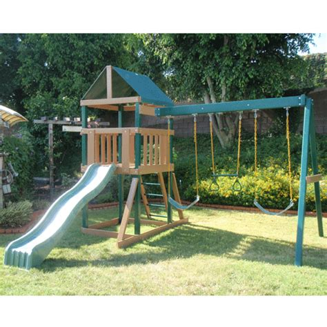 residential swing sets kidwise safari swing set
