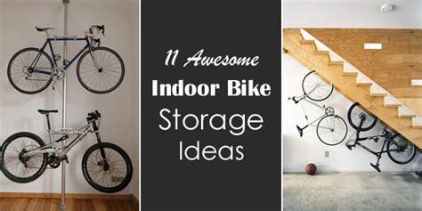 awesome indoor bike storage ideas