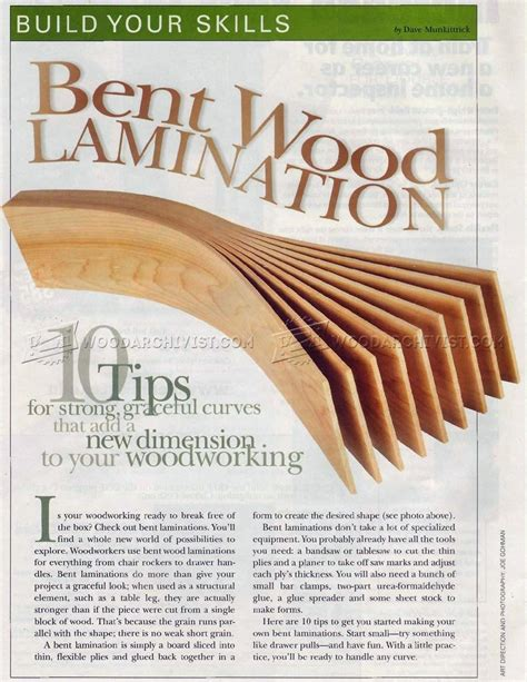 Bent wood lamination woodarchivist