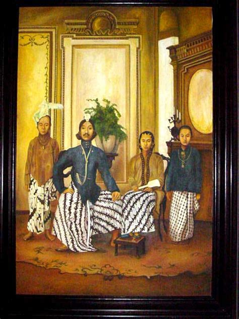 painting java antique javanese painting discover bali indonesia photo