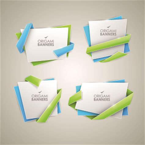 origami graphic design creative origami banner vector graphics 04 vector banner