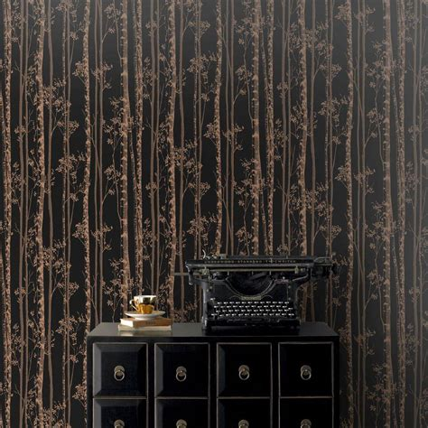 Graham And Brown graham brown black and copper linden removable wallpaper