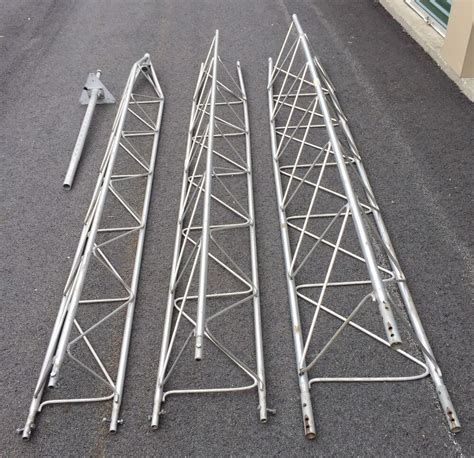 used 30 ft radio weather generator aluminum antenna tower ebay