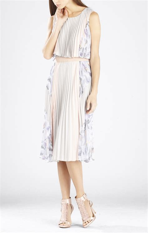 Print Pleated Dress jaelyn print blocked pleated dress