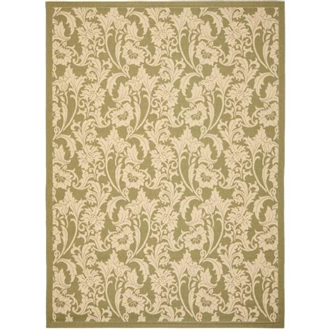 Safavieh Outdoor Rugs Safavieh Courtyard Green 8 Ft X 11 Ft Indoor Outdoor Area Rug Cy6565 24 8 The Home Depot