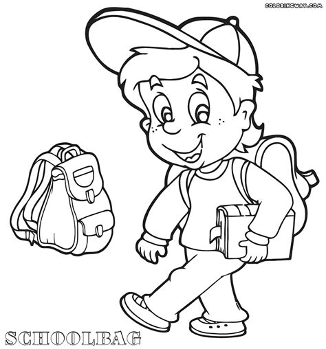 coloring page school bag school bag coloring pages coloring pages to download and