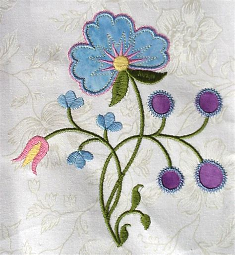 embroidery designs crewel machine embroidery