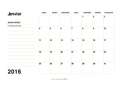 Calendrier 2016 Vierge Excel Planning Mensuel Vierge A Imprimer Calendar Template 2016