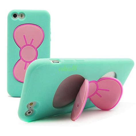 Soft Flowers Ring For Iphone 6 Plus 3d soft silicone butterfly bow stand holder