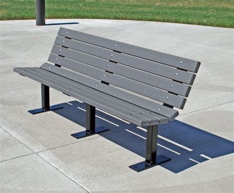pvc benches plastic bench at american recycled plastic dolly madison