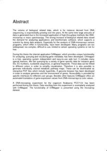 thesis abstract page orfmapper a web based application for querying and