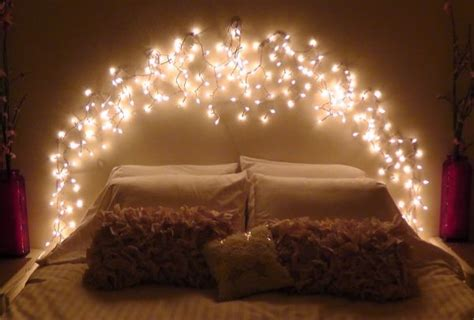 Bed With Lights In Headboard by Whimsical Headboard Ideas Without The Actual Headboard