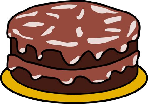 Cake Clipart Without Candles chocolate cake with no candles clip at clker