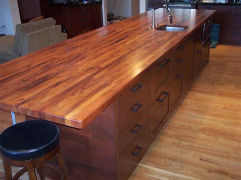 Handmade Countertops - mesquite custom wood countertops butcher block
