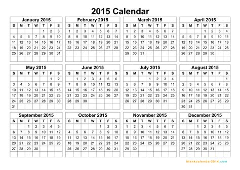 printable google calendar 2015 blank yearly calendar 2015 yearly calendar template