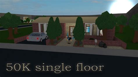 Cheap 2 Story Houses by Lets Build Bloxburg 50k Single Floor House Youtube
