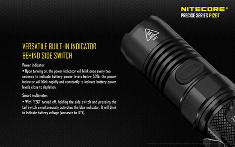 senter led nitecore p12gt cree xp l hi v3 senter