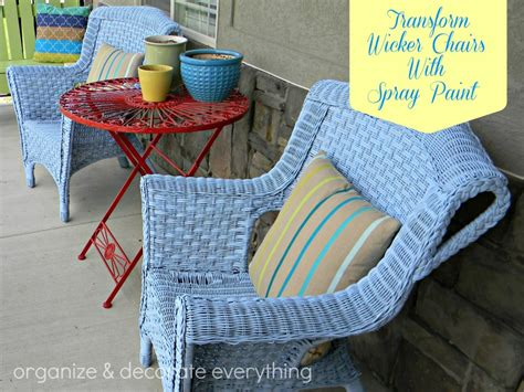 transform wicker chairs with spray paint organize and decorate everything