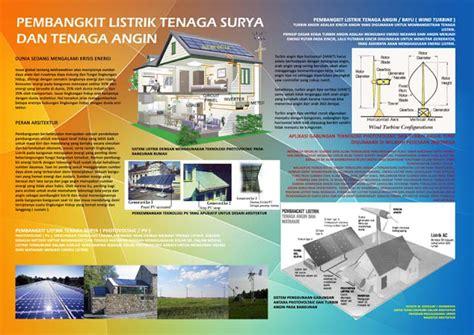 layout poster arsitektur yws arsitek pemanfaatan energi alternatif pada desain