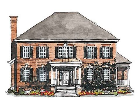 Georgian House Plan by Georgian House Plan With 3380 Square And 4 Bedrooms S