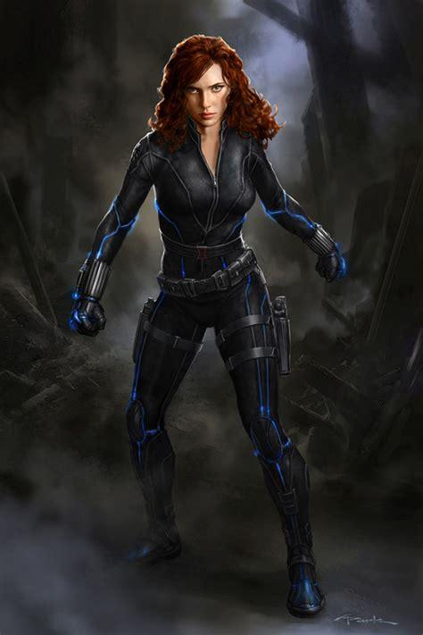 black widow avengers the avengers concept art by artist andy park collider