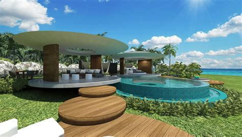 home design resort house tahiti villa chris clout design