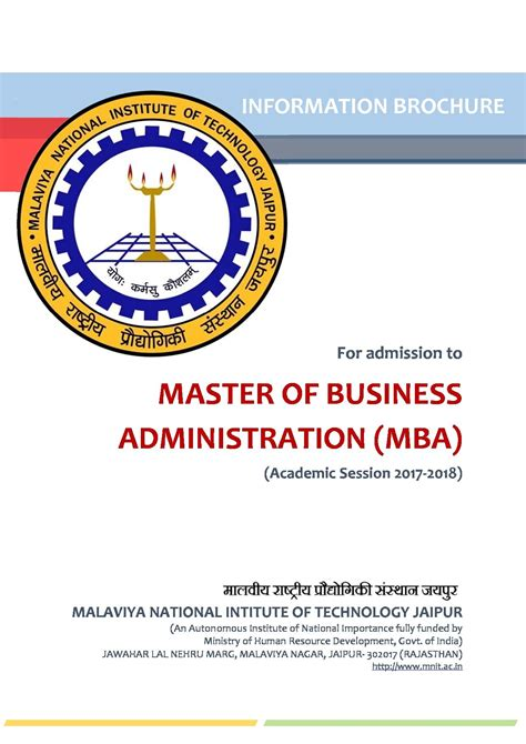 Fms Part Time Mba Eligibility Criteria by Department Of Management Studies Malaviya National