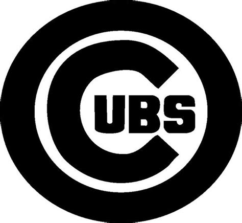 cubs logo black and white in chicago cubs by share on