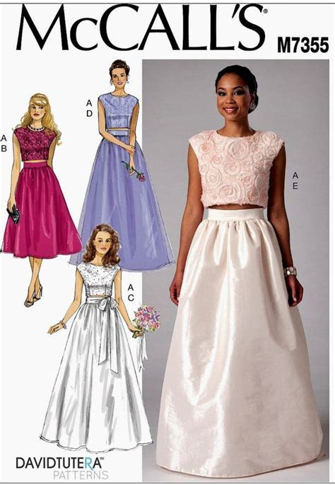 Formal Skirt and Top Pattern, Wedding Gowns Pattern
