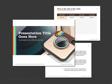 Instagram Theme For Powerpoint Trashedgraphics Instagram Presentation Template