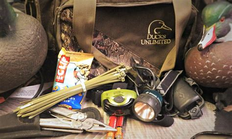 duck hunting boat essentials five essential items for your waterfowl blind bag
