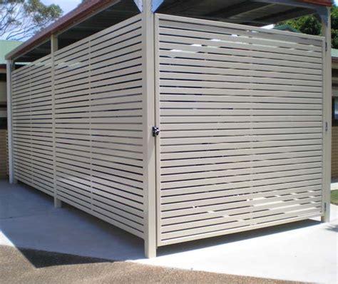Secure Carports colorbond aluminium carport garage privacy screen