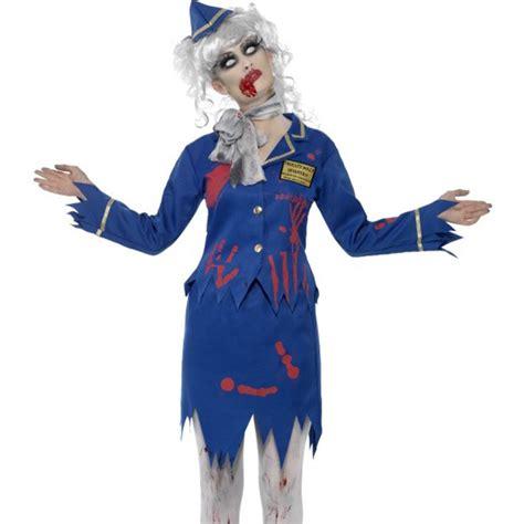 creepy zombie air hostess stewardess gory dead halloween