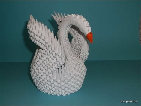 3d Origami Swan Tutorial - 3d origami swan tutorial model 3 my crafts and diy projects