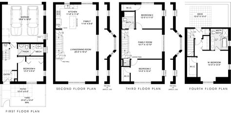 townhouse floor plan town house floor plan