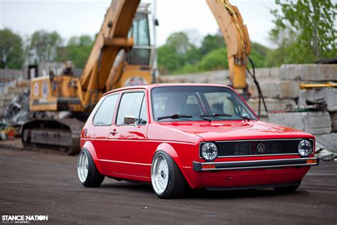 volkswagen rabbit stance garage built show stopper stancenation form gt function
