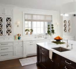 Espresso Kitchen Island white kitchen cabinets with espresso island transitional