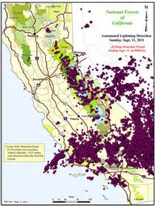 santa barbara county not unscathed as 15 500 lightning