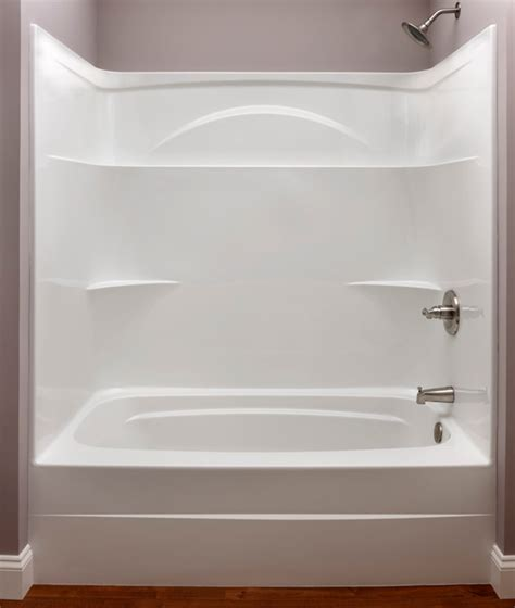 bathtub one piece white 60 quot x 32 quot x 74 quot bath tub and shower module with