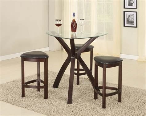 dining room pub table sets pub style dining room sets with round glass top dining
