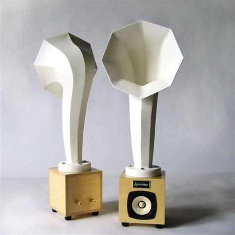Horn Speaker Mini Horn Mini Audio Speakers White Specimen Products
