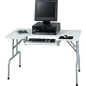 Small Computer Desk Staples Safco 174 Folding Compact Computer Table Gray Staples 174