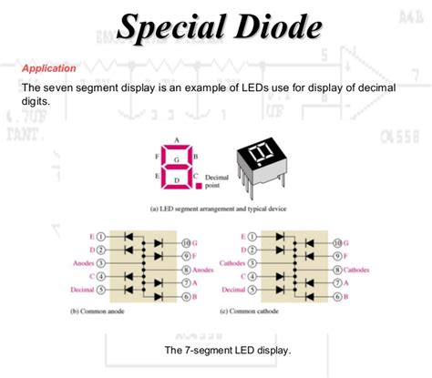 what are special diodes working principle diode and special diode
