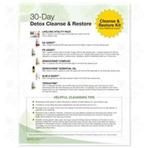 Detox Maintain Restore by 3772 Quot 30 Day Detox Cleanse And Restore Quot Tear Pad 50