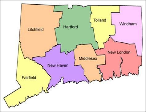 usa connecticut map connecticut political map