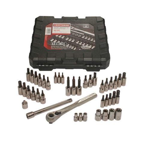 Kunci Sock Set 1 4 Inch 3 8 Inch 21 Pcs 6 Pt Plastik Tekiro 2 craftsman 42 1 4 and 3 8 inch drive bit and torx bit socket wrench set
