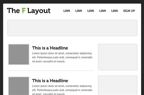 web design article layout understanding the f layout in web design