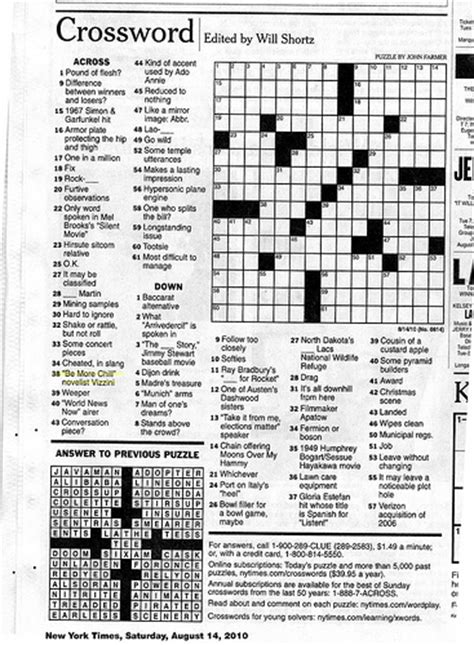 easy crossword puzzles new york times in the new york times crossword puzzle thanks to editor
