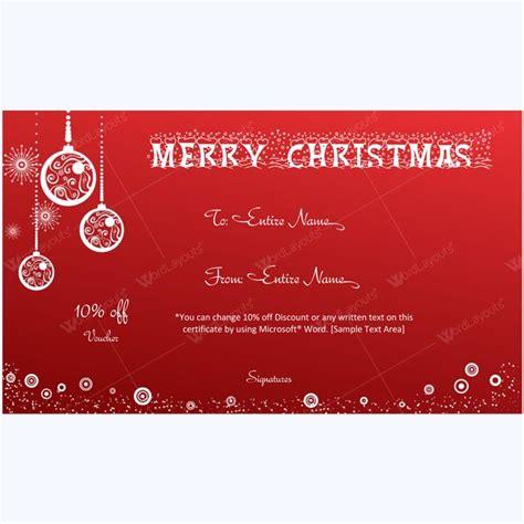 homemade christmas gift certificate template homemade ftempo