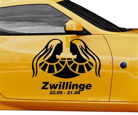 Autoaufkleber Zwillinge by Autoaufkleber Sternzeichen Zwillinge Text Tattoo Auto